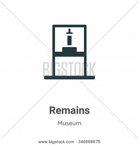Remains icon isolated on white background from museum collection. Remains icon trendy and modern Rem
