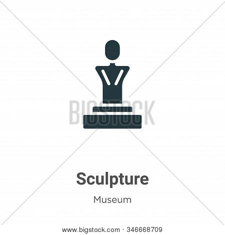 Sculpture icon isolated on white background from museum collection. Sculpture icon trendy and modern