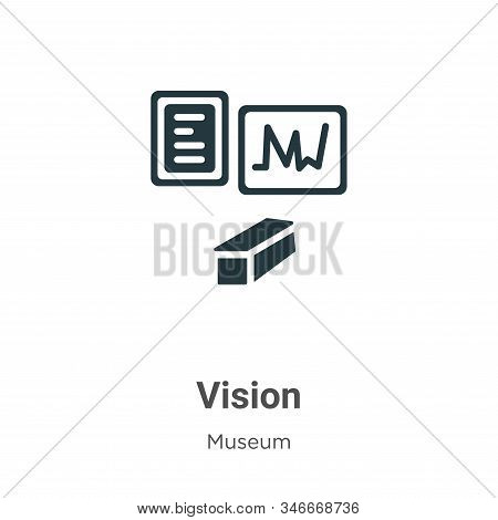 Vision icon isolated on white background from museum collection. Vision icon trendy and modern Visio