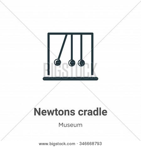 Newtons Cradle Glyph Icon Vector On White Background. Flat Vector Newtons Cradle Icon Symbol Sign Fr