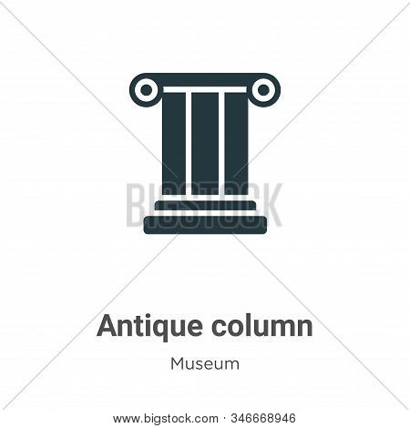 Antique column icon isolated on white background from museum collection. Antique column icon trendy