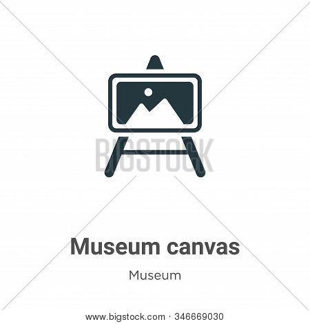 Museum canvas icon isolated on white background from museum collection. Museum canvas icon trendy an