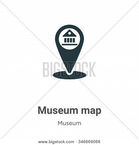 Museum map icon isolated on white background from museum collection. Museum map icon trendy and mode