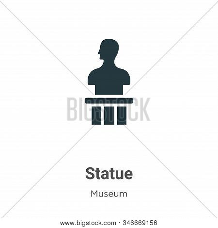 Statue icon isolated on white background from museum collection. Statue icon trendy and modern Statu