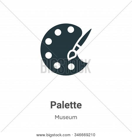 Palette icon isolated on white background from museum collection. Palette icon trendy and modern Pal