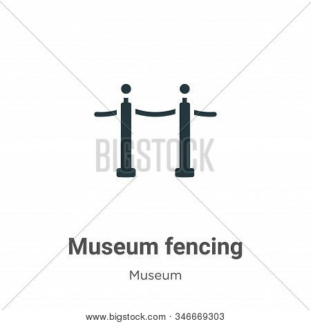 Museum fencing icon isolated on white background from museum collection. Museum fencing icon trendy