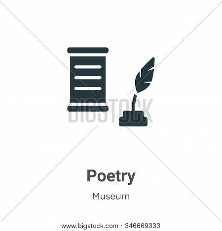 Poetry icon isolated on white background from museum collection. Poetry icon trendy and modern Poetr