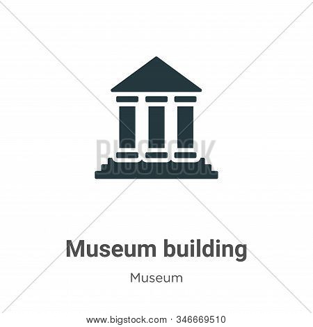 Museum building icon isolated on white background from museum collection. Museum building icon trend