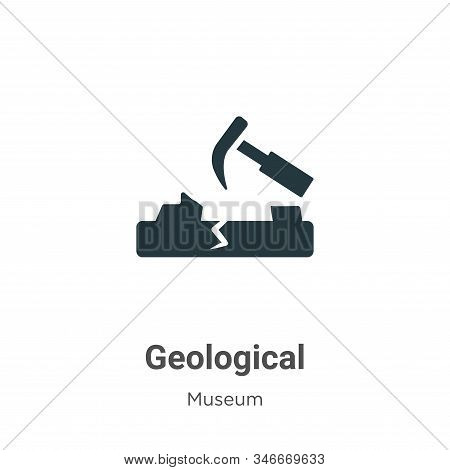 Geological Glyph Icon Vector On White Background. Flat Vector Geological Icon Symbol Sign From Moder
