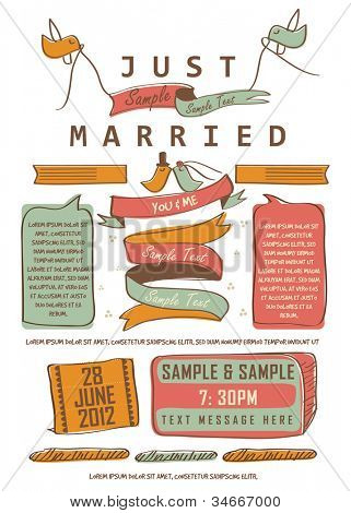 Letterpress Just Married