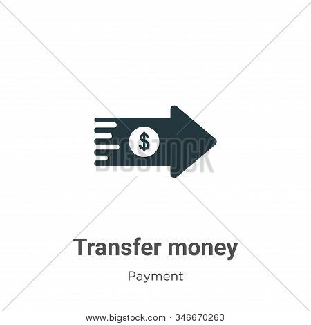 Transfer Money Glyph Icon Vector On White Background. Flat Vector Transfer Money Icon Symbol Sign Fr