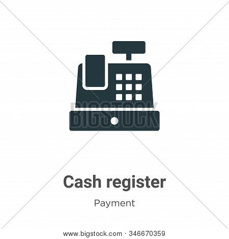 Cash register icon isolated on white background from payment methods collection. Cash register icon
