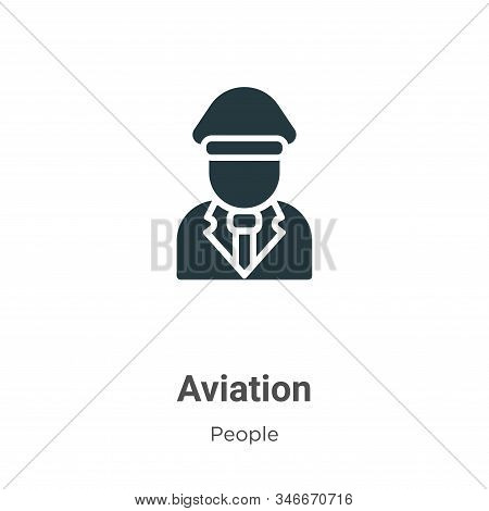 Aviation icon isolated on white background from people collection. Aviation icon trendy and modern A