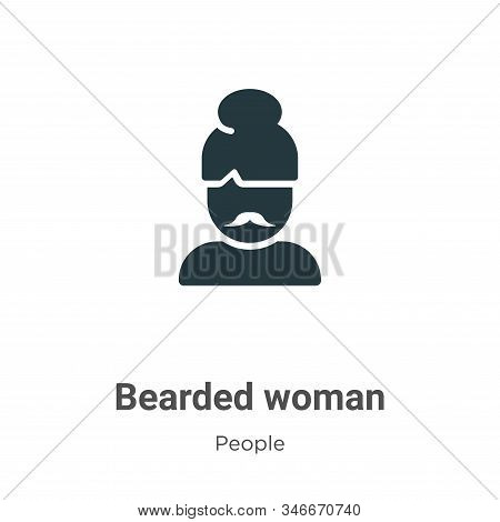 Bearded woman icon isolated on white background from people collection. Bearded woman icon trendy an