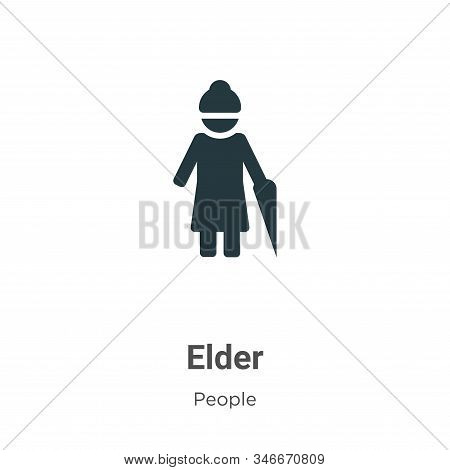 Elder icon isolated on white background from people collection. Elder icon trendy and modern Elder s