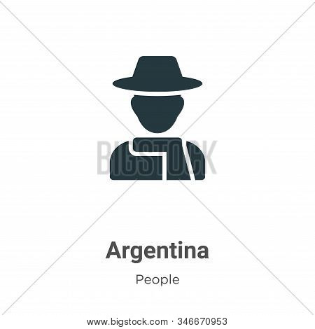Argentina icon isolated on white background from people collection. Argentina icon trendy and modern