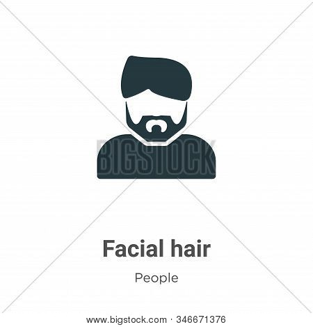 Facial hair icon isolated on white background from people collection. Facial hair icon trendy and mo