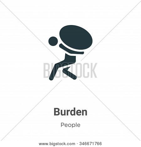Burden icon isolated on white background from people collection. Burden icon trendy and modern Burde