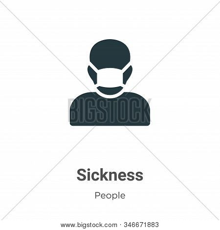 Sickness icon isolated on white background from people collection. Sickness icon trendy and modern S
