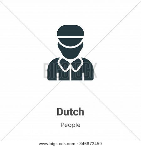 Dutch icon isolated on white background from people collection. Dutch icon trendy and modern Dutch s