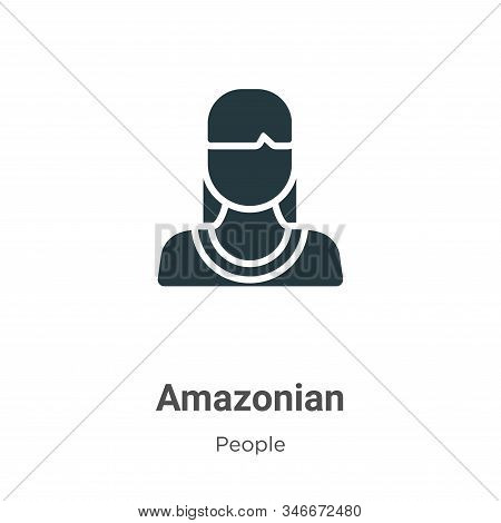 Amazonian Glyph Icon Vector On White Background. Flat Vector Amazonian Icon Symbol Sign From Modern