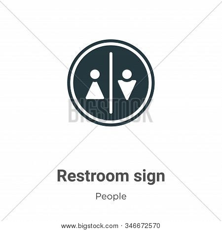 Restroom Sign Glyph Icon Vector On White Background. Flat Vector Restroom Sign Icon Symbol Sign From