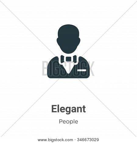 Elegant icon isolated on white background from people collection. Elegant icon trendy and modern Ele