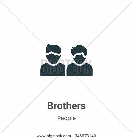 Brothers icon isolated on white background from people collection. Brothers icon trendy and modern B