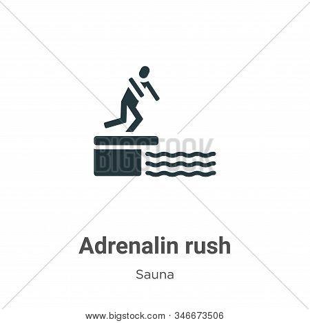 Adrenalin Rush Glyph Icon Vector On White Background. Flat Vector Adrenalin Rush Icon Symbol Sign Fr