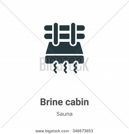 Brine cabin icon isolated on white background from sauna collection. Brine cabin icon trendy and mod