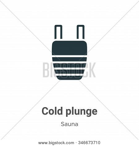 Cold plunge icon isolated on white background from sauna collection. Cold plunge icon trendy and mod
