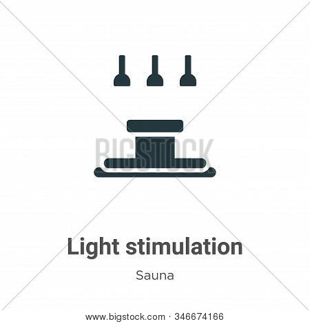 Light Stimulation Glyph Icon Vector On White Background. Flat Vector Light Stimulation Icon Symbol S
