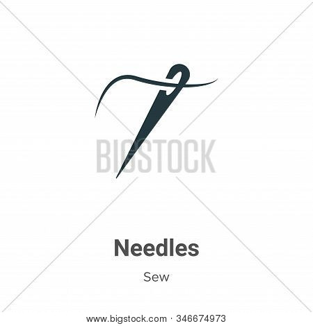 Needles icon isolated on white background from sew collection. Needles icon trendy and modern Needle