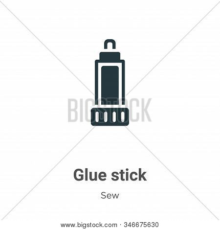 Glue stick icon isolated on white background from sew collection. Glue stick icon trendy and modern