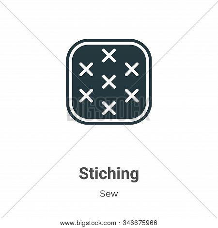 Stiching icon isolated on white background from sew collection. Stiching icon trendy and modern Stic