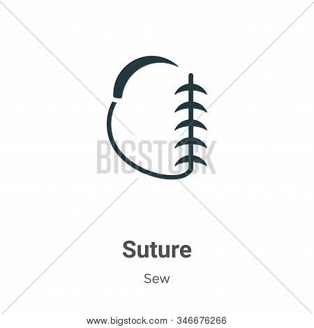 Suture icon isolated on white background from sew collection. Suture icon trendy and modern Suture s