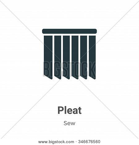 Pleat icon isolated on white background from sew collection. Pleat icon trendy and modern Pleat symb