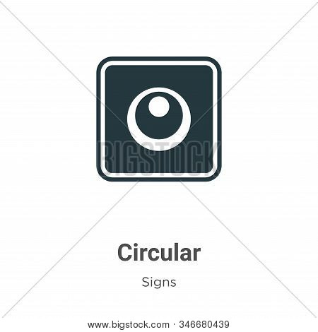 Circular symbol of japan icon isolated on white background from signs collection. Circular symbol of