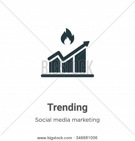 Trending icon isolated on white background from social media marketing collection. Trending icon tre