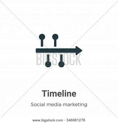 Timeline icon isolated on white background from social media marketing collection. Timeline icon tre