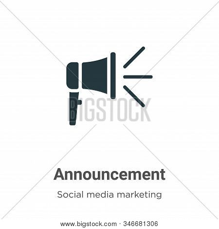 Announcement icon isolated on white background from social media marketing collection. Announcement