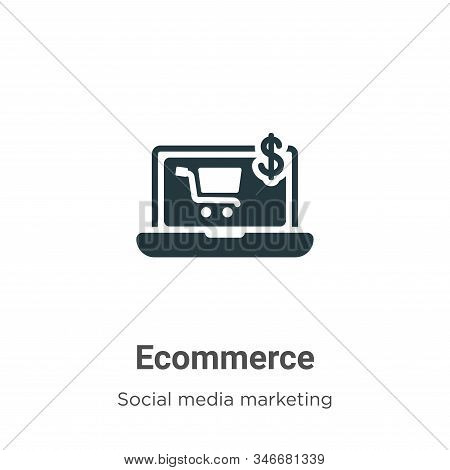Ecommerce Glyph Icon Vector On White Background. Flat Vector Ecommerce Icon Symbol Sign From Modern