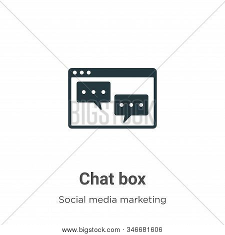 Chat box icon isolated on white background from social collection. Chat box icon trendy and modern C