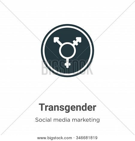 Transgender symbol icon isolated on white background from social collection. Transgender symbol icon