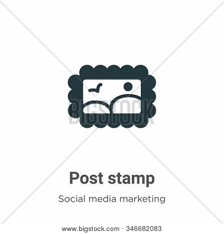 Post stamp icon isolated on white background from social collection. Post stamp icon trendy and mode