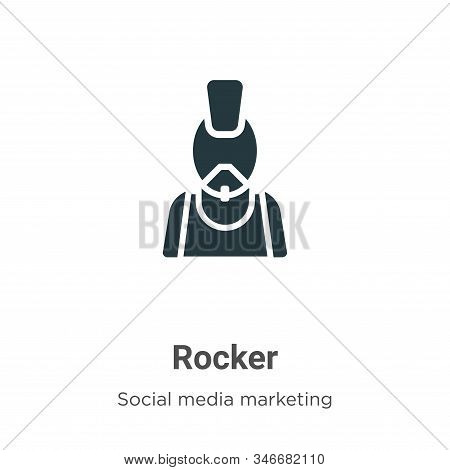 Rocker icon isolated on white background from social collection. Rocker icon trendy and modern Rocke