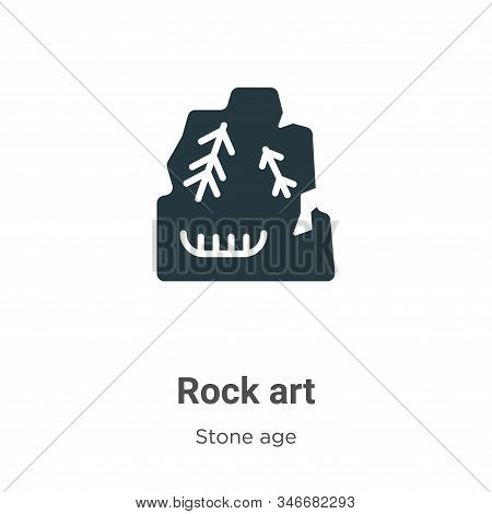 Rock art icon isolated on white background from stone age collection. Rock art icon trendy and moder
