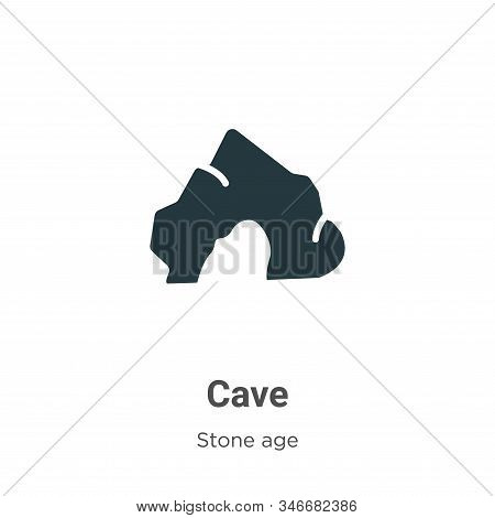 Cave icon isolated on white background from stone age collection. Cave icon trendy and modern Cave s