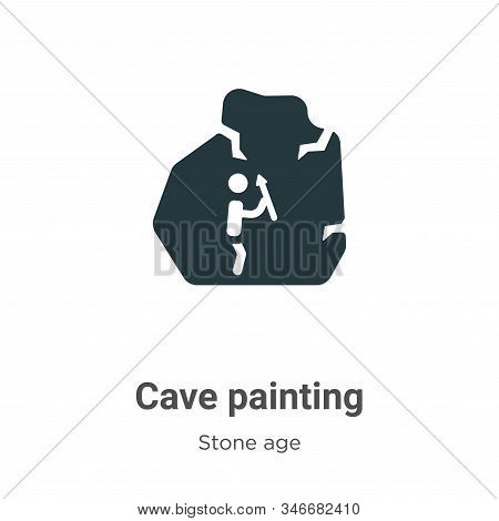 Cave painting icon isolated on white background from stone age collection. Cave painting icon trendy