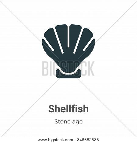 Shellfish icon isolated on white background from stone age collection. Shellfish icon trendy and mod